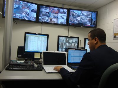 Security guard with video monitoirng