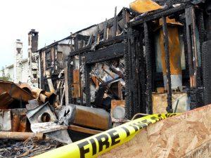 fire damaged business